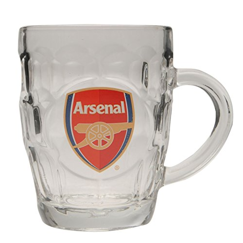 Team Pint Glas Fußball Fan Club Crest Memorabilia Zubehör NEU, Arsenal