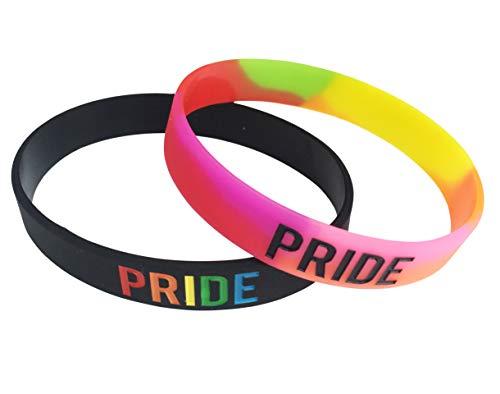 Orion Creation Bracciale in Silicone da Polso Gay Pride in Silicone LGBT, LGBTQ Community