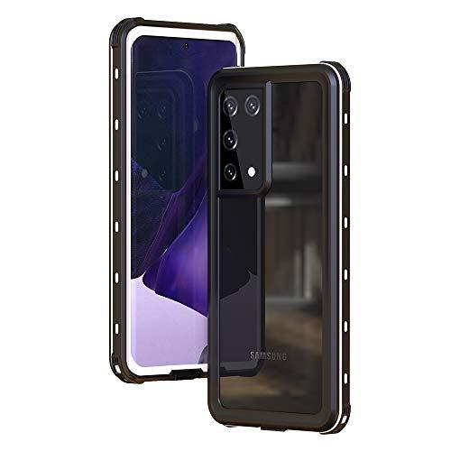 Aosailjet Funda Impermeable Samsung Galaxy S21 Ultra [Anti-rasguños][Protección de 360 Grados],Case Protectora con Protector de Pantalla Incorporado para Samsung Galaxy S21 Ultra (Blanco)