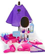 18 Inch Doll Pretend Play Hair Salon 30 Pc. Set by Sophia's. Combo Child Sized & Doll Sized Complete Hair Accessory Set for American Dolls, Doll Furniture & More! 18 Inch Doll Hair Care Kit Play Set