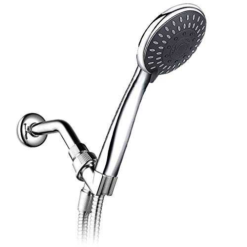 ALTON SHR20960 Brass, SS-304 Grade, ABS 4-inch Shower Head With Hose Pipe, Arm And Adjustable Bracket, Chrome Finish