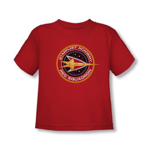 Star Trek - - Tout-petit Escadron Rouge T-shirt En Rouge, 2T, Red