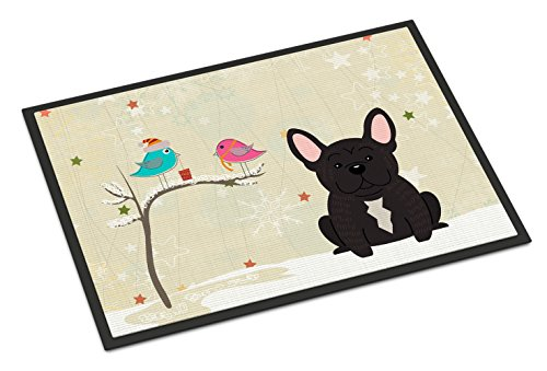 Caroline's Treasures BB2481MAT Between Friends French Bulldog Brindle Indoor or Outdoor Mat 18x27, 18H X 27W, Multicolor