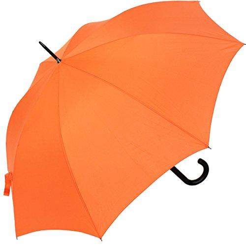 RS-Stockschirm groß stabil für Damen und Herren mit Automatik- orange