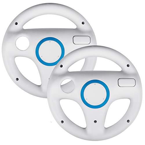 Beinhome 2Pack Mario Kart Wii Racing Wheels, Wii Steering Wheel for Nintendo Wii or Wii U Racing Games