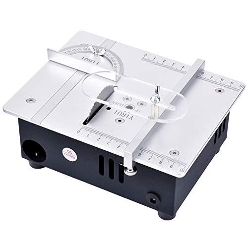 Mini sierra de mesa Control de velocidad de 7 velocidades Sierras eléctricas de sobremesa Pequeña herramienta de corte de bricolaje para el hogar Herramientas de torno de banco
