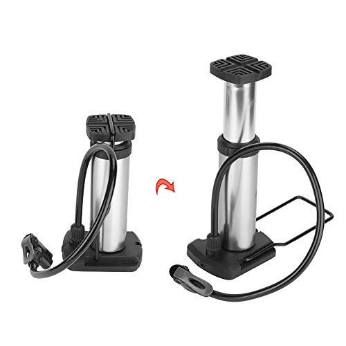 Keen so Bicycle Pump Mini Bike Foot Pump Portable High Pressure Floor Inflator Tire Air Pump Portable Bike Foot Pump Silver