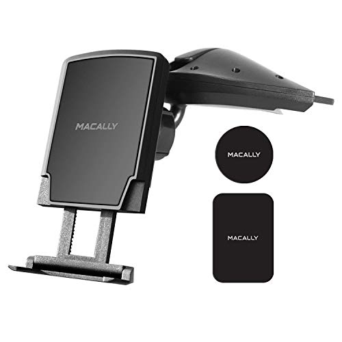 Macally Magnetic Cd Slot Phone Holder for Car - Secure Hold (50% Stronger...