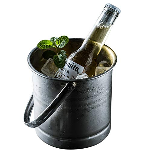 Rolin Roly Cubos de Vino s Pequeño Champagne Hielo Cubitera de Acero Inoxidable para Botellas para Fiesta y Bar Ice Bucket 700ML