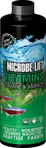 MICROBE-LIFT Vitamins - wichtige Vitamine und Aminosäuren für Korallen und Fische für jedes Süßwasser Aquarium, 118ml