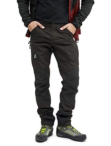 RevolutionRace Nordwand Pro Pants Herren Wasserabweisende, Atmungsaktive und Strapazierfähige Outdoorhose zum Wandern, Trekking, Camping, Klettern, Mountainbiken und Jagen, Jet Black, XL