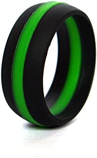 thin green LINE 硅胶结婚戒指弹性防*主动 Wear 适用于 ON Duty 或主动 LIFE 款式军事