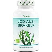 Kelp Bio (iode naturel) - 365 comprimés contenant chacun 200µg d'iode provenant d'algues brunes biologiques - Sans additifs indésirables - Fortement dosé - Vegan