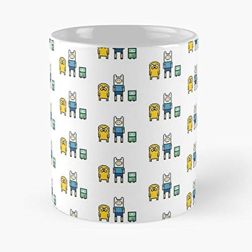 SanfE The Pixels Time Jake Adventuretime Dog Adventure Finn BMO Taza de café con Leche 11 oz