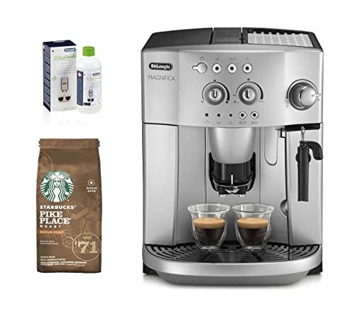 Ekspres ziarnisty Delonghi ESAM 4200 i dodatkowy zestaw odkamieniacza + STARBUCKS Pike Place Roast Medium Roast Whole Bean Coffee, 200 g (6 sztuk)