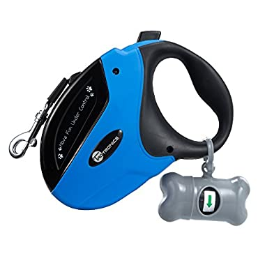 TaoTronics Retractable Dog Leash, 16 ft Dog Walking Leash for Medium Large Dogs up to 110lbs, Tangle Free, One Button Break & Lock, Dog Waste Dispenser and Bags included