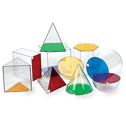 Learning Resources Giant GeoSolids, Large Plastic Shapes