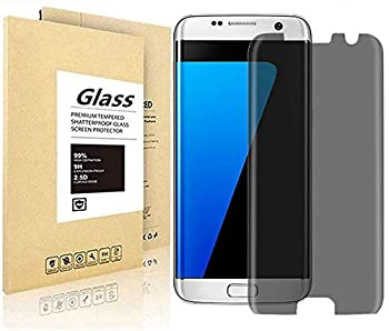[2 Pack] Galaxy S7 Edge Privacy Screen Protector [HD] [Anti-Spy] [Anti-Scratch] [Anti-Fingerprint] [Bubble Free] [9H Hardness] Tempered Glass Screen Protector for Galaxy S7 Edge 3D Curve Edge