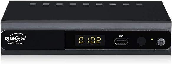 Digiquest twin tuner rec - Decoder digitale terrestre Full HD - Funzione di videoregistratore, Nero