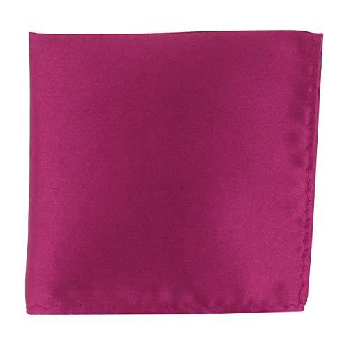 Pochette Costume Violet Fushia - Mouchoir de Poche Homme Violet Fushia - Accessoire Carré Poche de Veste - Mariage, Cérémonie