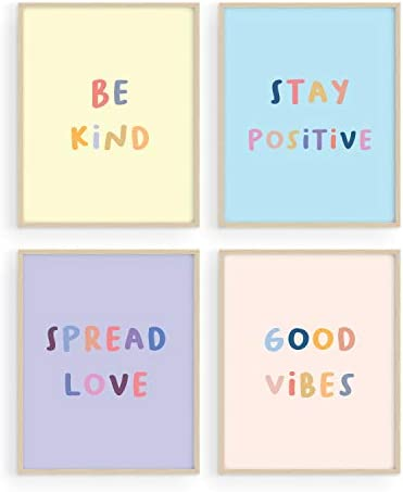 Haus and Hues Inspirational Wall Art Print Quotes Set of 4 Motivational Art Prints Posters for product image