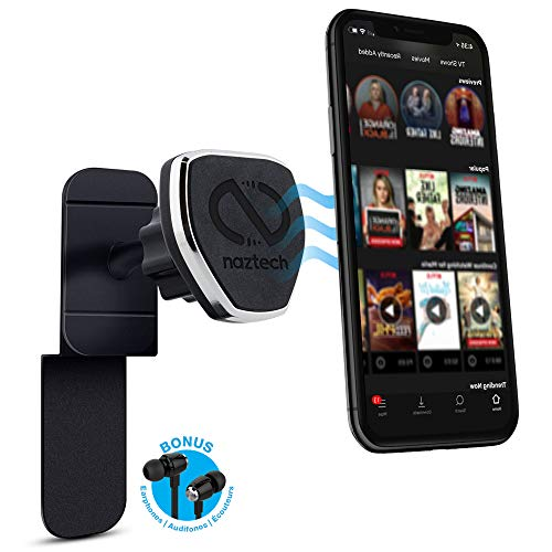 Naztech MagBuddy Universal Magnetic In-Flight Mount Turns Your Tablet or Phone Into Your Own Seat Back Entertainment. For Use on the Plane,Train,Car