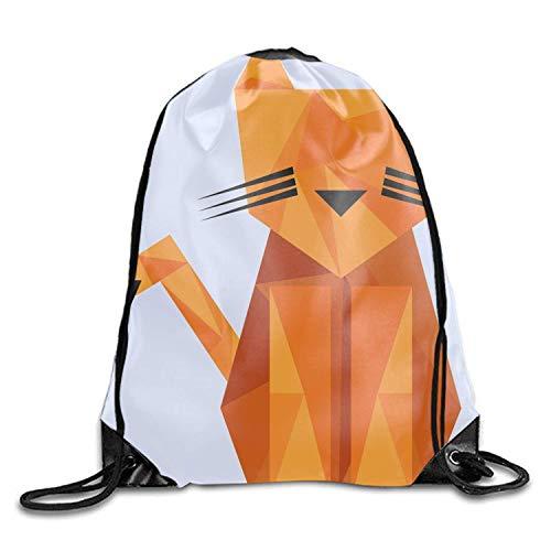 engzhoushi Turnbeutel,Sporttaschen,Schultasche Drawstring Backpack Beam Mouth Gym Sack (Tiger Animal)