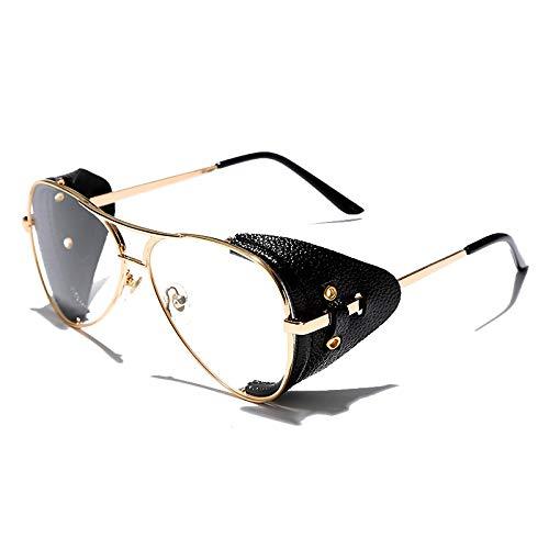 ShSnnwrl Único Gafas de Sol Sunglasses Gafas De Sol De Piloto Clásicas Hombres Mujeres Moda Gafas De Sol De Aviador De Metal Marc