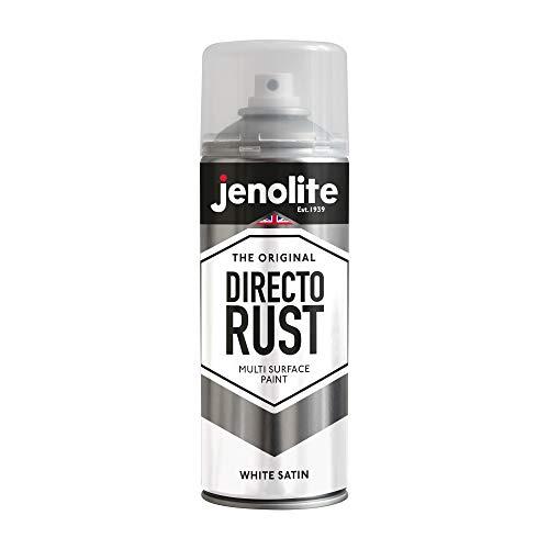 JENOLITE Directorust - Pintura Antioxidante Blanco - óxido Bloqueador - Aplicar Directamente a la Oxidación - Satén Blanco - 400ml