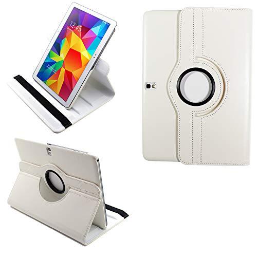 """COOVY 2.0 Funda para Samsung Galaxy Tab Pro 10.1 SM-T520 SM-T525 Smart 360º Grados Rotaciã""""N Cover Case Protectora Soporte Auto Sueño/Estela   Blanco"""