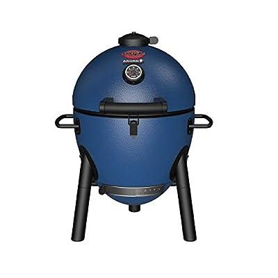 Char-Griller E56714 AKORN Jr. Kamado, Sapphire Blue Portable Charcoal Grill