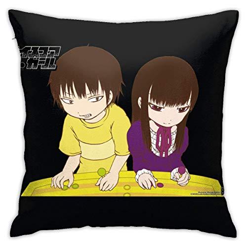 ATUEMACO Alta puntuación chica yaguchi haruo ōno Akira funda de almohada ropa de cama decorativa cubierta de almohada 45 x 45 cm