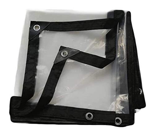Toldo Clear Tarpaulin Heavy Duty tela impermeable, tela impermeable de plástico transparente grueso a prueba de viento impermeable adecuado for el invernadero del jardín piscina cubierta 120G