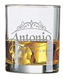 Colorfamily Bicchiere da Whisky con Incisione Mamma papà Nonno Nonna Zio Zia Personalizzabile con Nome E PARENTELA - Il Migliore/la Migliore del Mondo - Regalo papà