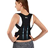 Back Brace Posture Corrector with Magnetic Stone for Men Women and Teenagers,Adjustable and Breathable Upper Back Brace Provides Back Support, Relieve Back Pain