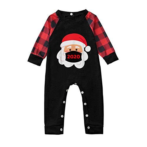 Conjunto de Pijamas para Padres e Hijos, PijamasManga Larga con Estampado de Papá Noel,Pantalón Estampado Traje Homewear