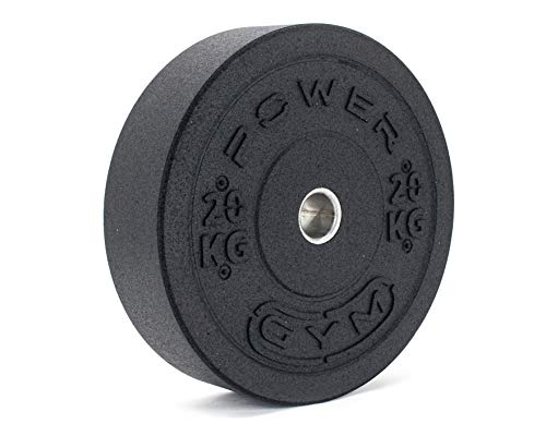 Olympic 2' Rubber Crumb Bumper Weight Plates - Cross fitness gym fit weight lifting deadlifts - Made from 100% recycled rubber Environmentally friendly - European Manufactured (15kg(pair))