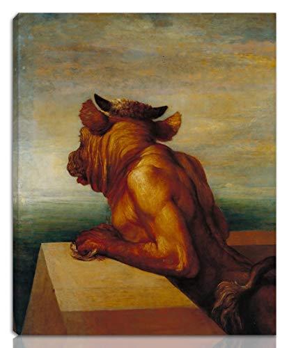 Berkin Arts George Frederic Watts Gedehnt Giclee Auf Leinwand drucken-Berühmte Gemälde Kunst Poster-Reproduktion Wand Dekoration Fertig zum Aufhängen(Der Minotaurus)#NK