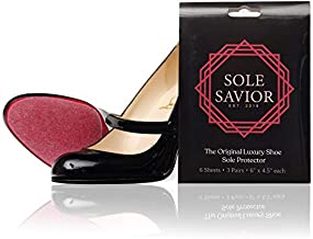 Sole Savior- (3 PAIR!) Compatible Louboutin Sole Protector for Christian Louboutin Shoes, Red Bottom Protectors for Luxury Shoes- Christian Louboutin Sole Protector- 3M, Clear and Large, 6 x 4.5in.