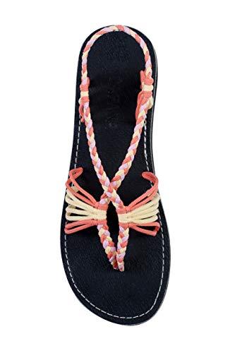 Capana Sommer Sandalen für Damen Cocoon, Rot (lachs-creme-pink), 42 EU