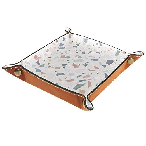 DJROWW Ablageplatte aus Granitstein, Terrazzo, Abstrakter Hintergrund, Schreibtisch-Ablageplatte für Schlüssel, Münzen, Schmuck, Telefon, Heimdekoration, Multi, 20,32 cm (8 Zoll)