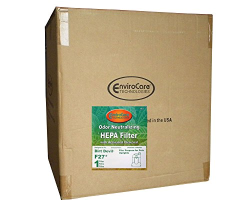 Royal Dirt Devil F 27 Filtre HEPA à charbon actif avec filtre à vide pour animaux de compagnie sans sac tous les aspirateurs verticaux, F27, 1LY2108000