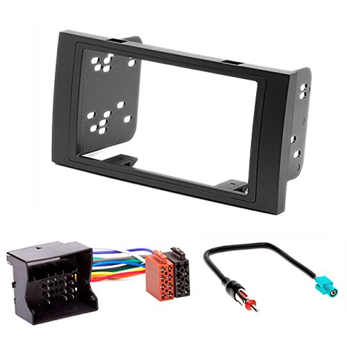 FORD KUGA 2008-2012 coche radio Doble DIN Panel y adaptador Quadlock ISO