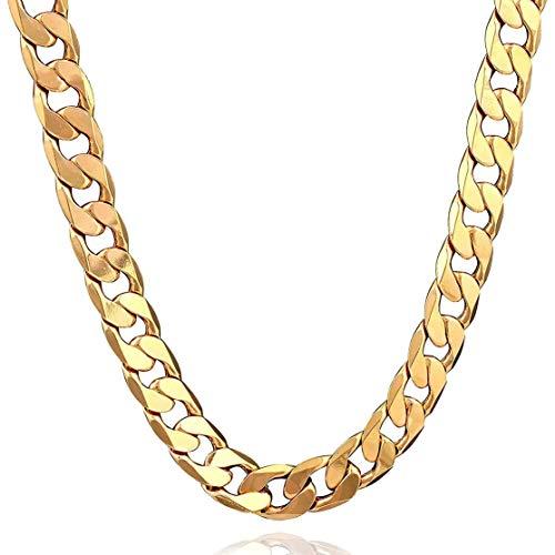 Kaemma Mode Männer Halskette Exquisite Boy Armbänder Universal Männer Anhänger Tragbare Charming Party Ornamente(Color:Gold)