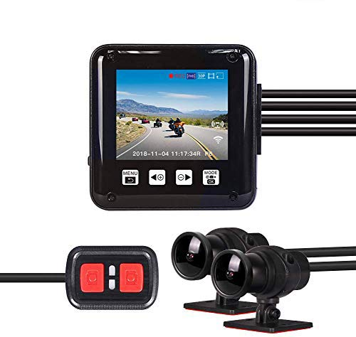 Vsysto Dual Dash Cam Telecamera per auto DVR Full HD 1080P, Fotocamera anteriore e posteriore, Impermeabile per tutto il corpo, Schermo da 2,0 pollici, Utilizza Supercapacitor, con WiFi