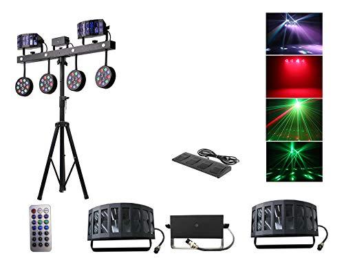 Rasha Professional Galaxy Latest Gig Bar Unit Derby RGBW Laser for Party Disco Bar Stand Wedding Dmx Light (Black)