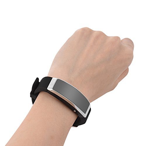 Aibecy 8G Digital Voice Recorder Wearable MP3 Music Player Voice Activated Recorder Wristband for Sports Class Lectures Meeting
