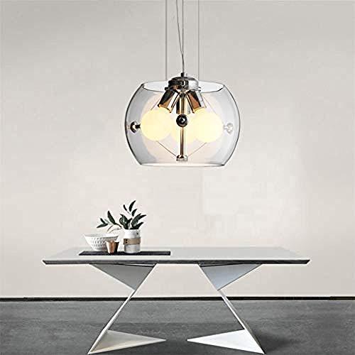 Moderne LED Pendelleuchte kreatives Design Esstisch Pendelleuchte 3 Lampe Pendelleuchte aus Glas Pendelleuchte geeignet für E27 Glühbirne höhenverstellbar für Wohnzimmer Büro Küche Schlafzimmer Lampe
