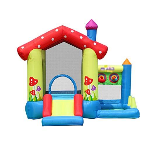 Zhihao Aufblasbare Hüpfburgen Heimspielzeughaus Paradies Innenausrüstung Kleine Trampoline Frech Schloss Trampolin Rutsche Unterhaltungs-Ausrüstung geeignet (Color : Blue, Size : 275 * 255 * 232cm)