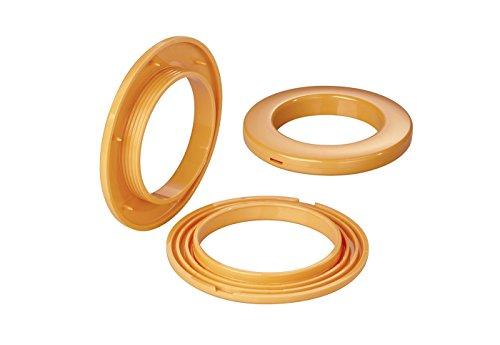 Stoffösen für Stoffloch Ø 40 mm, verwendbar für alle Stoffstärken, 10 Stück, Kunststoff, mango
